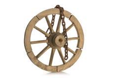 Det gamla hjulet och kedjan Fotografering för Bildbyråer