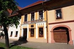 Det gamla hotellet i Kezmarok Royaltyfri Fotografi