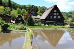 Det gamla huset Shirakawa-går in byn Royaltyfria Foton