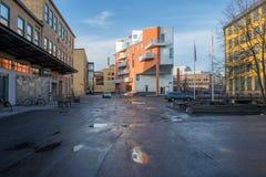 Det gamla industriella landskapet i Norrkoping, Sverige Arkivbild