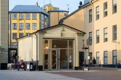 Det gamla industriella landskapet i Norrkoping, Sverige Royaltyfria Bilder