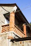 Det gamla kinesiska tegelstenhuset royaltyfria bilder