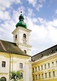 Det gamla klockatornet i Sibiu, Rumänien Royaltyfri Foto