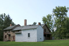 Det gamla lantbrukarhemmet Arkivfoton