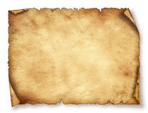 Det gamla pappers- arket, tappning åldrades gammalt papper. Arkivbild
