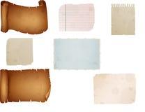 Det gamla pappers- arket, tappning åldrades gammalt papper Royaltyfri Bild