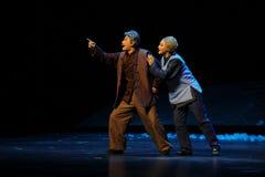 Det gamla parets den förväntanJiangxi operan en besman Arkivfoto