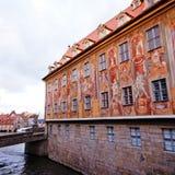 Det gamla stadshuset av Bamberg (Tyskland) Arkivfoton