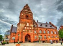 Det gamla stadshuset av Roskilde - Danmark Royaltyfri Foto