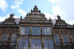 Det gamla stadshuset i Bremen, Tyskland Fotografering för Bildbyråer