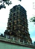 Det gamla tornet av thanjavurmarathaslotten Arkivfoton