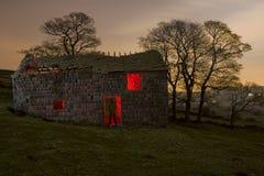 det gammala lantgårdhuset fördärvar shepards Arkivbilder