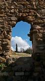 det gammala slottet fördärvar Arkivfoto