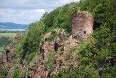 det gammala slottet fördärvar sekund Arkivfoto