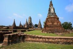 Det gammala tempelet av den gammala huvudstaden av thailand Royaltyfri Bild