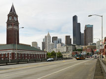 Det gammalt och det nytt i Seattle Arkivbilder