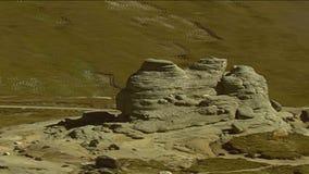 Det geologiska bildandet för sfinx stock video