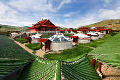 Det ger lägret på Ulaanbaatar, Mongoliet Arkivbilder