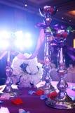 Det gifta sig partit bordlägger Royaltyfria Foton