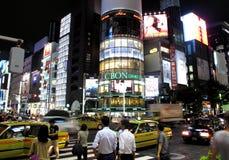 Det Ginza området Arkivfoto