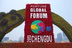 2013 det globala forumet för förmögenhet i Chengdu Arkivbild