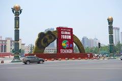 2013 det globala forumet för förmögenhet i Chengdu Arkivfoto