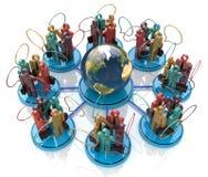 det globala kommunikationsbegreppsgallerit mer mitt ser bilden för nätverket 3d framförde samkväm Royaltyfria Foton