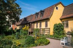 Det Goethe huset i Weimar, Tyskland Fotografering för Bildbyråer