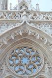 Det gotiska fönstret av Matthias Church Arkivfoton