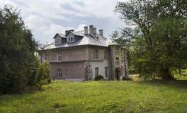 Det gråa huset, ett av monumentet av den tidigare tyska koncentrationsläger Plaszow, Polen royaltyfria bilder