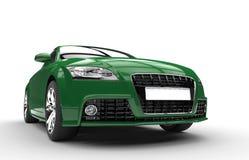 Det gröna bil- slutet sköt upp Royaltyfri Fotografi