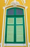 Det gröna fönstret Royaltyfri Fotografi