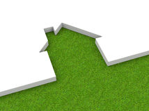 Det gröna huset Arkivfoton