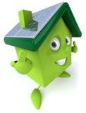 det gröna huset panels sol- Royaltyfria Foton