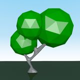 Det gröna trädet Vektor Illustrationer