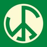 det gröna fredtecknet kriger Royaltyfri Bild