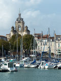 Det Grosse Horloge klockatornet i La Rochelle France Arkivfoton