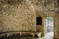 Det grottaDianna tillståndet skyddade den historiska monumentet, Pyatigorsk, nordliga Kaukasus Arkivbilder