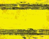Det Grungy däcket spårar tecknet Arkivbild