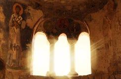 Det gudomliga glödet i templet Royaltyfri Foto