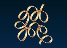 Det guld- bandet firar lutningvektorillustrationen Arkivfoto