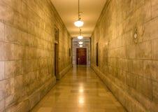 Det guld- hallet Arkivbild