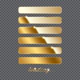 Det guld- päfyllningstecknet och päfyllning bommar för pågående på genomskinlig bakgrund också vektor för coreldrawillustration Royaltyfri Bild