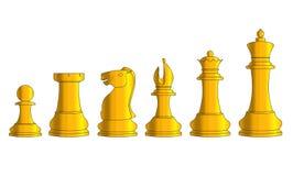Det guld- schacket Royaltyfri Foto