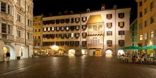Det guld- taket i Innsbruck Arkivfoton