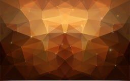 Triangulärt guld- texturerar. Royaltyfri Bild