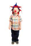 Barnet som clownen stängde hans, synar Fotografering för Bildbyråer