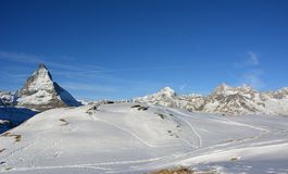 Det härliga berget i Schweiz Royaltyfri Foto