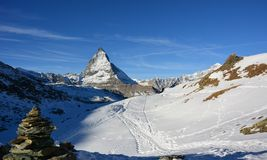 Det härliga berget i Schweiz Arkivbilder