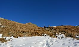 Det härliga berget i Schweiz fotografering för bildbyråer
